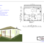 2 Bedroom 79 square metre house plan