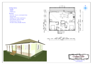 2 Bedroom 79 square metre house plan